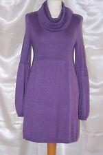 M&S  amethyst soft wool & cotton mix elasticated ladies dress size 12