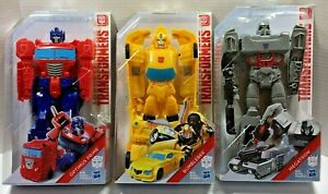 "BUNDLE Transformers Titan Changers Optimus/Bumblebee/Megatron 11"" Action Figure"