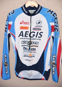 Castelli Squadra Cycling Road Bike Men's Medium Fleece Jacket Team Raglan Jersey