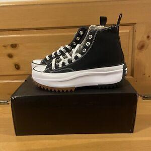 Converse Men's Run Star Hike Hi 166800C Black White and Gum Shoes Size 7 / 8.5W