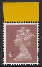 2011 Machin 5p Dull Red Brown SG Y1763 Litho 2B Mint From DY2 Aerial Booklet