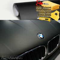 "60"" x 60"" Matte Flat Black Vinyl Film Wrap Sticker Decal Bubble Free Air Release"