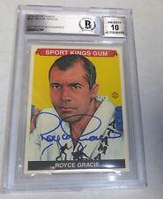 Royce Gracie Signed UFC 2010 Sportkings Card BAS COA Gem Mint 10 Autograph 1 2 3