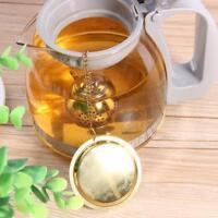 Gold Edelstahl Teelöffel Infuser Halter Filter Teesieb mit Base Teekanne