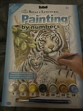 White Tiger ANIMAL PAINTINGS A4 PAINT BY NUMBER KITS - Stocking Filler