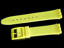 # sw615 # Orologi braccialetto compatibile per Swatch Orologi Unisex PVC 17 mm NUOVO