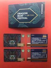 CS2038 2020 China Starbucks Happy Dragon Boat Festival Dark Blue gift cards 2pcs