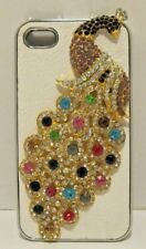 iPhone 4 Snap On Case Cover New Jeweled Rhinestone Peacock Multi Color NEW