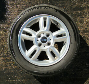 "15"" Genuine Used MINI Alloy Wheel 5 Star Twin Spoke for R55 R56 R57 6791930 #73"