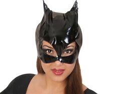 Maske Katzenlady schwarz Lack Latex Optik Katzenfrau Cat Woman 126049513