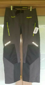 Klim Mens Raptor GTX Overshell Pants Size 34 Monument Gray Hi Vis