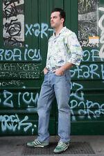 Herren Hemd kurzärmlig Hawaii Hemd shirt permaflott 80er True VINTAGE palmtrees