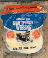Frost King Weatherproof Plastic Vintage Lawn Furniture Webbing Pale Yellow