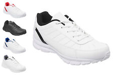 Mens White or Black Classic Trainers Size 6 to 13 UK SPORTS LEISURE CASUAL 010
