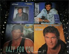 DAVID HASSELHOFF * 4 Singles ua. SONG OF THE NIGHT * CRAZY FOR YOU * FREEDOM...