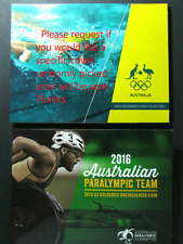 2016 $2 Dollar Olympic Team set & Paralympic Team Coloured coin in folders UNC