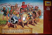 Greek Infantry V-IV B.C. Soldatini Greci - Zvezda Kits 1:72 8005 - Nuovo