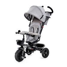 Kinderkraft Dreirad 6in1 AVEO Kinderdreirad Jogger mit Zubehör Klappbar Grau