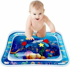 Tummy Time Baby Water Mat with Floating Toys Infants & Toddlers Early Developme