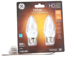 1 GE Relax LED Comfortable Soft White Light 40w 300 Lumens Clear Finish Dimmable