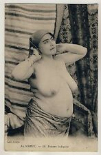 Morocco MATURE NUDE FAT WOMAN / DICKE NACKTE ARABERIN * Vintage 10s Ethnic PC