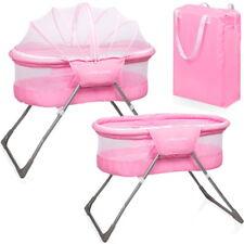 Baby Reisebett Beistellbett Babybett Snoozer rosa Mädchen + Matratze Tasche Neu