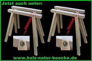 4 neue Stützböcke, Holzböcke, Montageböcke, Schreinerbock, Zimmererbock,