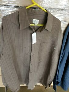Solitude Taupe Long Sleeve Button Down Dress Shirt Size XL Men's NEW WITH TAGS