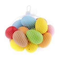 10Pcs Easter Eggs Xmas Gifts Plastic Bright Eggs Assortment DIY Decoration Toys