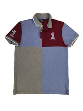 EUC Hackett London 1 Men's Colorblock Polo/Golf Shirt, Sz Medium, Classic Fit