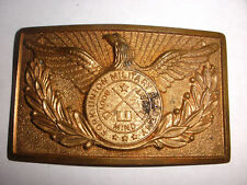 Vintage Fork Union Military academy American eagle brass plate for  Belt Buckle