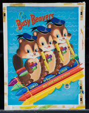 "R. JONES 1954 Original Cover Art - ""Busy Beavers"" (A45)"