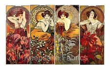 Mucha Nouveau Precious Stones Ladies Cotton Miniatures FrEE ShiPPinG WoRld WiDE