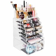New 12 Drawers Large Clear Makeup Cosmetic Jewelry Organizer Storage Display Box