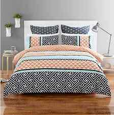 New Abbey Modern Geometric Style Quilt / Doona Cover Set - Double Bed