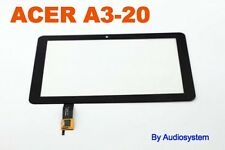 "GLS: TOUCH SCREEN + VETRO PER ACER ICONIA TAB A3-20 10"" DISPLAY LCD NERO NUOVO"