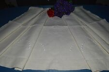 BEAU SHEET ANTIQUE LINEN EMBROIDERED (C).G EMBROIDERY AND DAYS ON DISCOVERY
