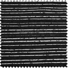 Designer One Off Black Silver Striped Pattern Chenille Upholstery Sofas Fabric