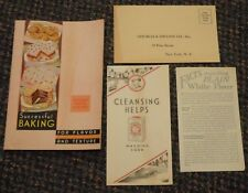 1934 Cow Brand Baking Soda Successful Baking recipe booklet and other items
