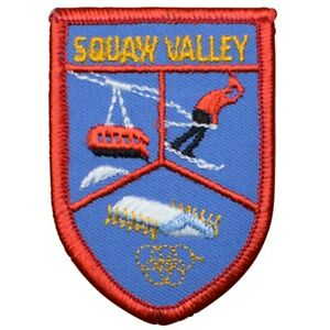 """Vintage Squaw Valley Patch - California, Winter Olympics, Ski Badge 3"""" (Sew on)"""