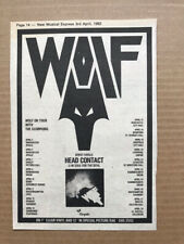 More details for wolf head contact memorabilia original nwobhm music press advert from 1982 with