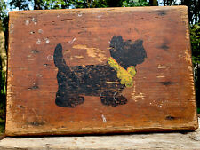 VTG Charming Hand Painted/Crafted SHABBY Wood Stand Bench Displays ~SCOTTY DOG~