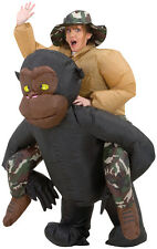 Blowup Adult Inflatable Riding Gorilla Halloween Costumes Illusion Fancy Dress
