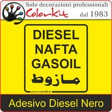 Adesivo Diesel Nero su Sfondo Trasparente cm. 10x11 - 000330 by Colorkit
