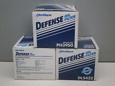 Lot of (3) Defense DL5432 Engine Oil Filter PH2865A PH2810 V-193 51381 PF-1177