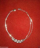 pulsera tobillera plateada cobre Copper Silver Plating Ankle Chain Anklet 23 cm