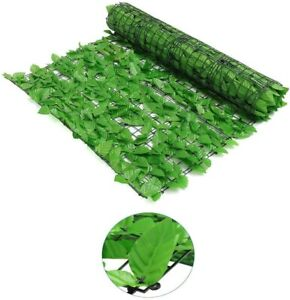 Artificial Leaf Hedge Ivy Garden Fence Roll Balcony Privacy Wall Cover Hot 1X3 M