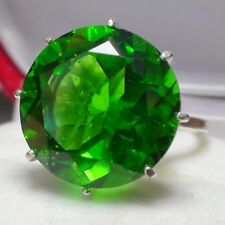 BIG! 17.60 ct NATURAL AAAAA...MOLDAVITE RING PURE 925 STERLING SILVER,SIZE 8,0.