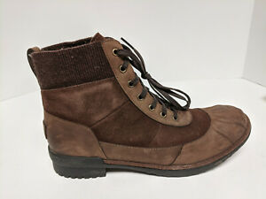 UGG Brown Lace-Up Boots, Women's 9.5 M