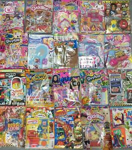 10 X GIRLS COMICS MAGAZINES LOADS OF TOYS GIFTS SHOPKINS BARBIE NUM NOMS PINK